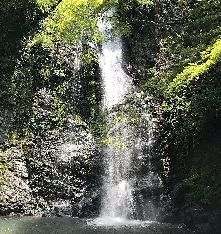 大阪の人気観光スポットでもある箕面市にある箕面の滝です