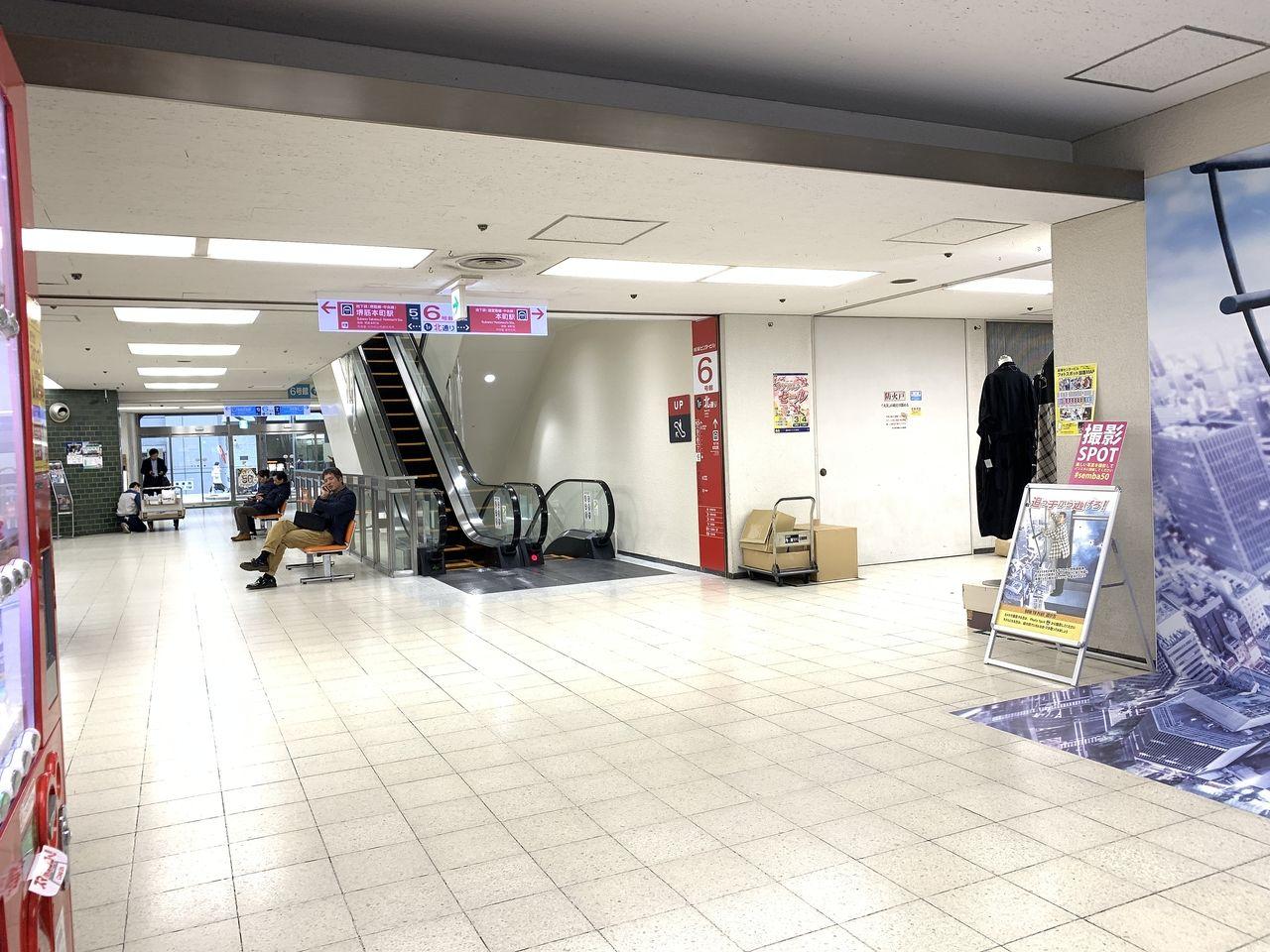 船場センタービル6号館の共有スペースになります。