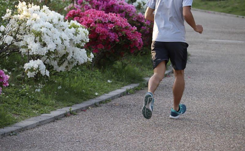 ジョギングをしている写真です。