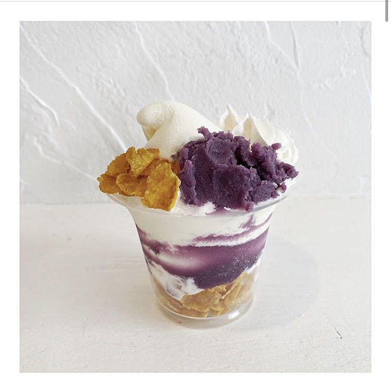 メニューの中の紫いも&ホイップです。