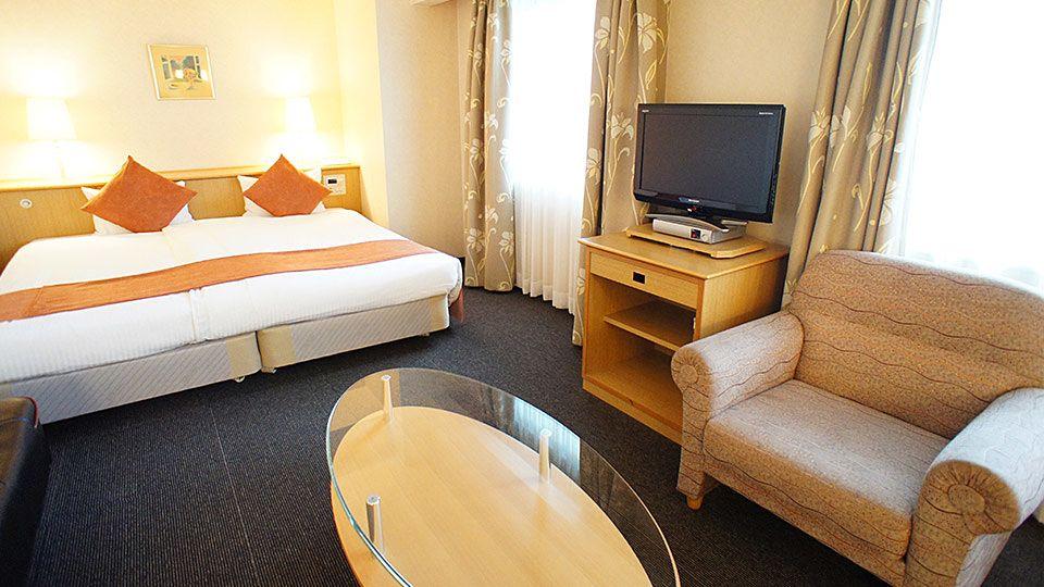 大阪ジョイテルホテルのハリウッドツインのお部屋です。