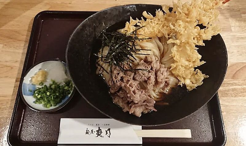 麺屋 爽月のがっつりお肉と天ぷらの写真