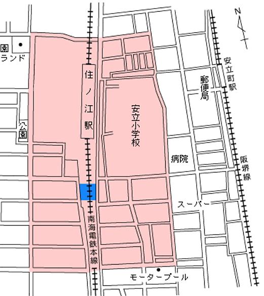 住ノ江駅周辺は自転車等放置禁止区域の写真です。