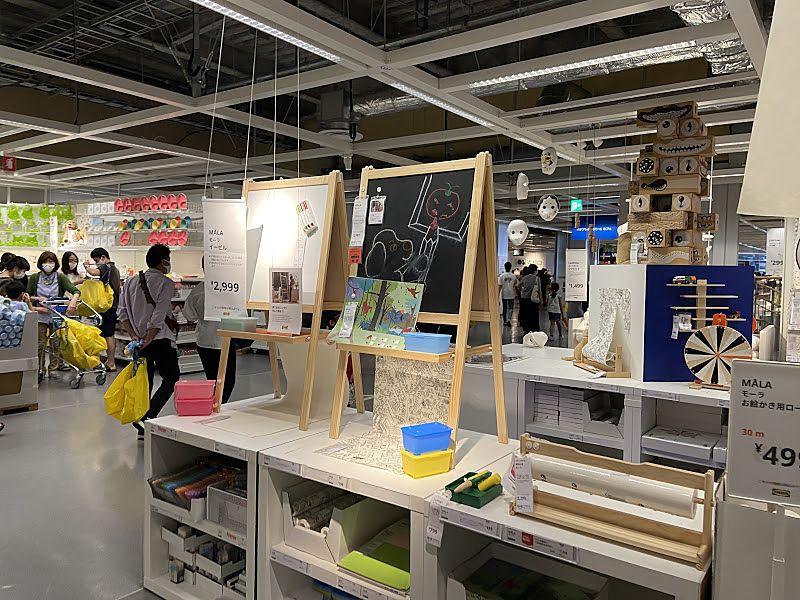 IKEAの店内写真です。