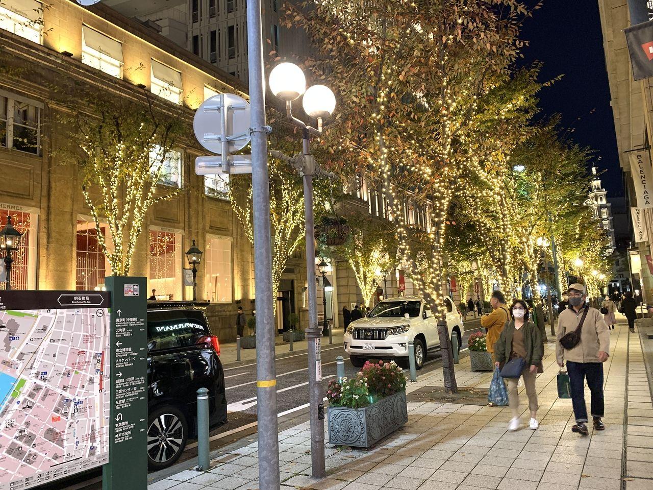 神戸旧居留地の美しすぎるイルミネーション(^○^)