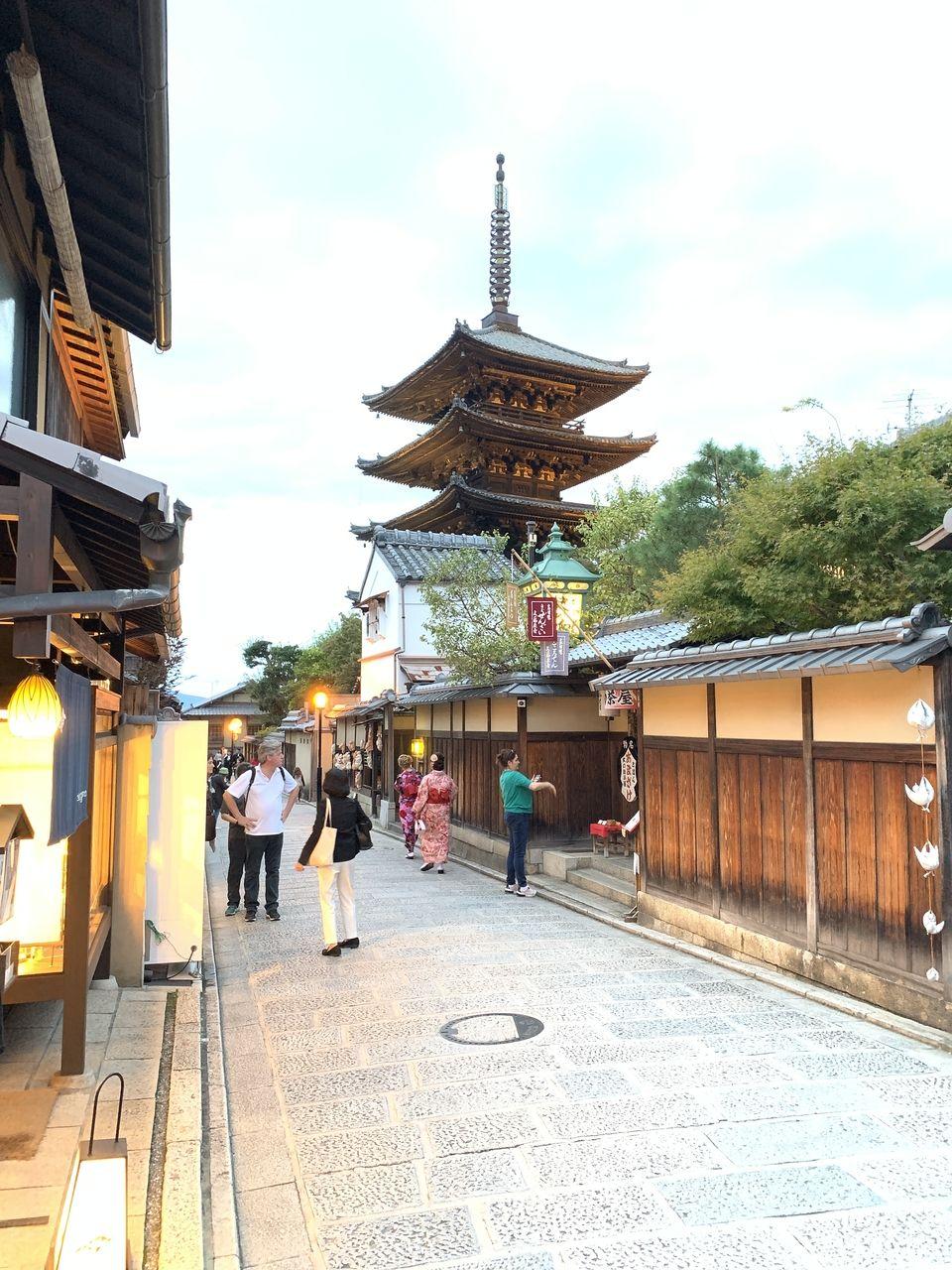 秋晴れが綺麗な京都清水寺
